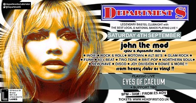 Dept S Club Night ✰ JTM ✰ Eyes of Caelum + Support at The Lanes in Bristol