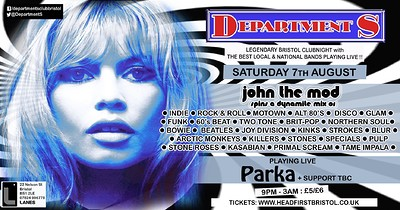 Dept S Club Night w/ JTM, Parka + Support at The Lanes in Bristol