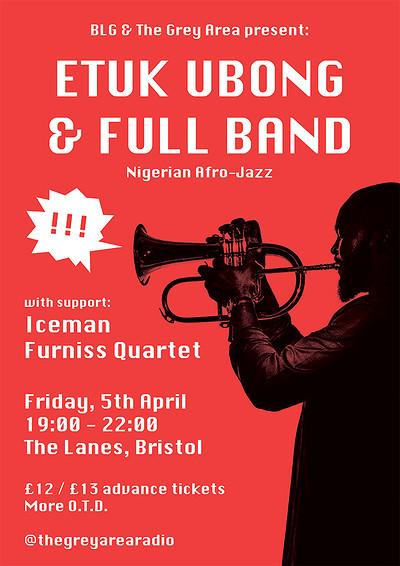 Etuk Ubong & Full Band (Nigerian Afro-Jazz) at The Lanes in Bristol