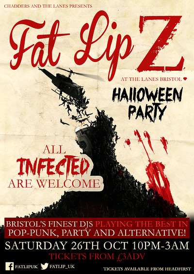FAT LIP Z Halloween Party! at The Lanes in Bristol