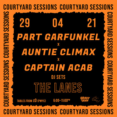 PART GARFUNKEL x AUNTIE CLIMAX + CAPTAIN ACAB at The Lanes in Bristol