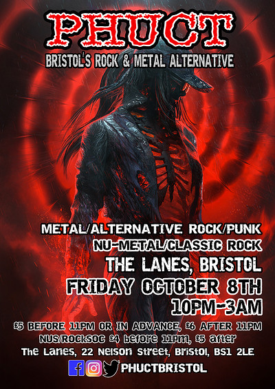 PHUCT - Bristol's rock and metal alternative at The Lanes in Bristol