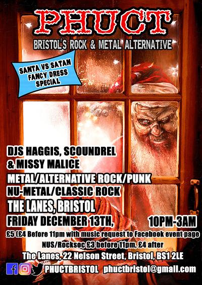 Phuct: Bristol's Rock & Metal Alternative xm@s! at The Lanes in Bristol