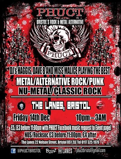 PHUCT - Bristol's Rock Metal Alternative Xmas Shin at The Lanes in Bristol