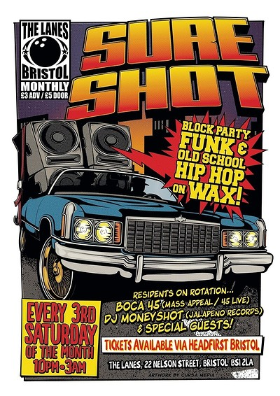 Sure Shot: Classic Funk & Hip Hop at The Lanes in Bristol
