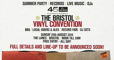 The 2nd Bristol Vinyl Convention. at The Lanes in Bristol