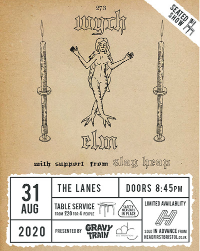 WYCH ELM + SLAGHEAP (live) at The Lanes in Bristol