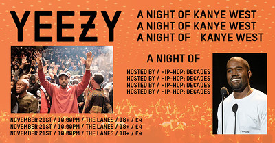 YEEZY | A Night of Kanye West at The Lanes in Bristol