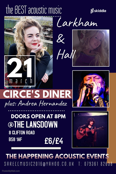 Circe's Diner/Andrea Hernandez/Larkham and Hall at the lansdown in Bristol