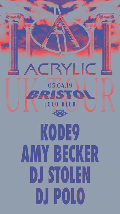 Acrylic x Super Kitchen: KODE 9 at The Loco Klub in Bristol