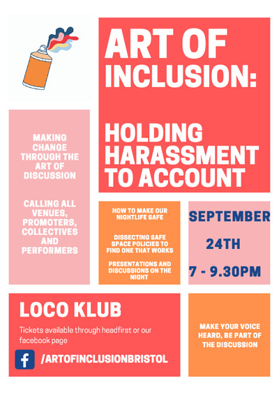 Art of Inclusion: Holding Harassment to Account at The Loco Klub in Bristol