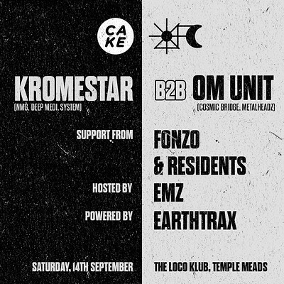 CAKE x DUBCULT presents: KROMESTAR & OM UNIT at The Loco Klub in Bristol