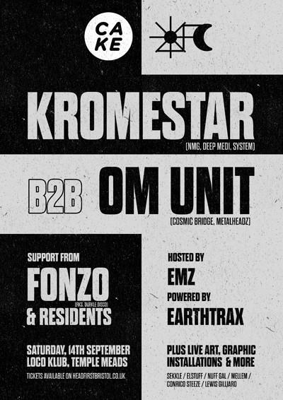 CAKE x DUBCULT presents: KROMESTAR & OM UNIT at The Loco Klub in Bristol