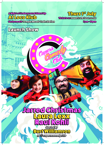 Capers Comedy Launch Show at The Loco Klub in Bristol