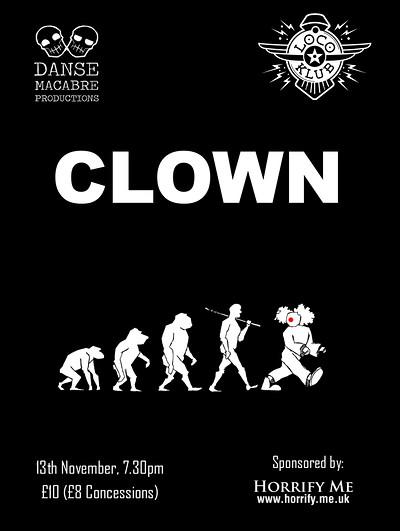 Clown at The Loco Klub in Bristol