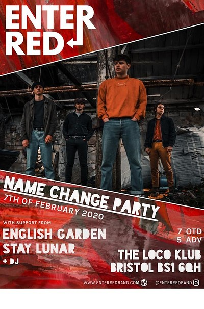 Enter Red Name Change Party at The Loco Klub in Bristol