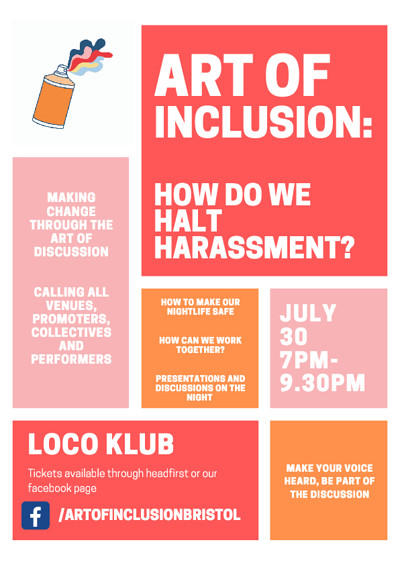 How Do We Halt Harassment? at The Loco Klub in Bristol