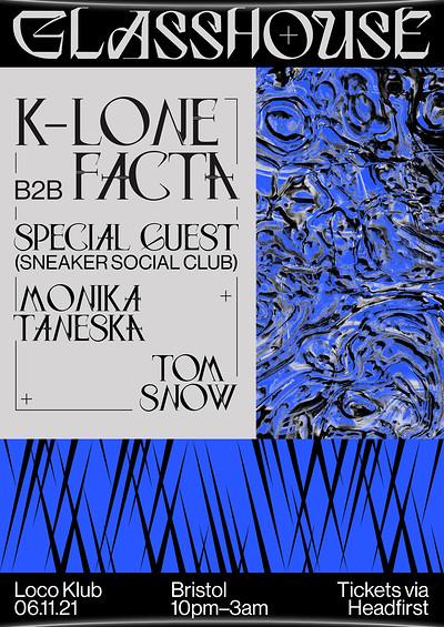 K-Lone b2b Facta (All Night Long) at The Loco Klub in Bristol