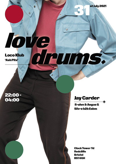 Love Drums with Jay Carder  at The Loco Klub in Bristol