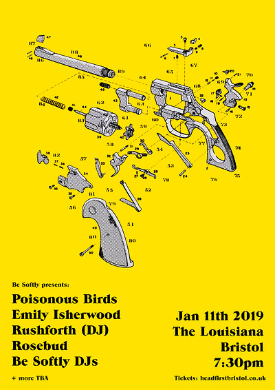 Be Softly: Poisonous Birds, Emily Isherwood +more at The Louisiana in Bristol