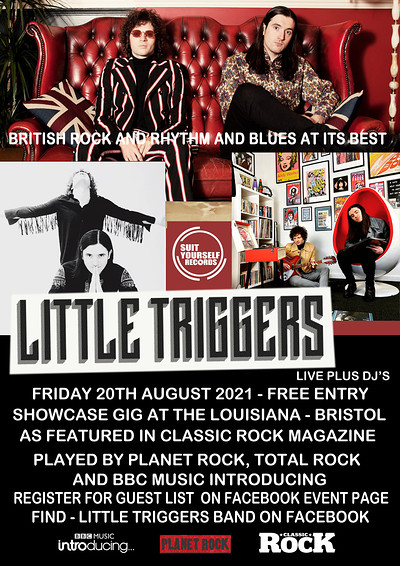 LITTLE TRIGGERS LIVE FREE SHOWCASE GIG at The Louisiana in Bristol