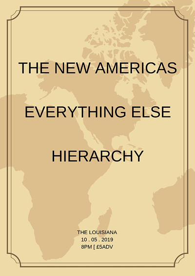 The New America + Everything Else + Hierarchy at The Louisiana in Bristol