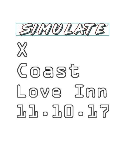 £1 // Simulate Presents: X-Coast at The Love Inn in Bristol