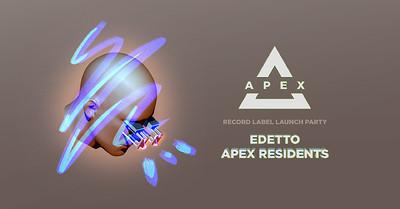 Apex Label Launch Party: Edetto @ The Love Inn at The Love Inn in Bristol