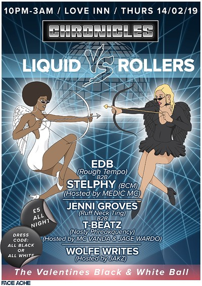 Liquid VS Rollers- The Black & White Ball  at The Love Inn in Bristol