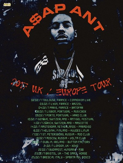 Psyched presents A$AP ANT (Asap Mob) at The Love Inn in Bristol
