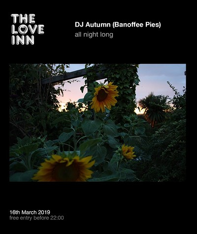 The Love Inn Pres. DJ Autumn (Banoffee Pies)  at The Love Inn in Bristol