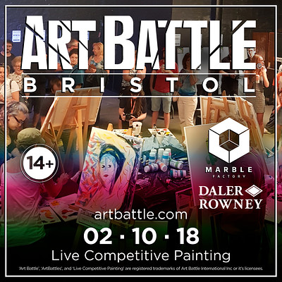 Art Battle Bristol at The Marble Factory in Bristol