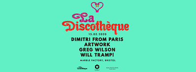 La Discothèque: Artwork, Greg & more! at The Marble Factory in Bristol
