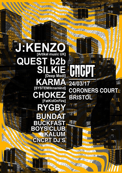 CNCPT Presents  at The Moon Club in Bristol