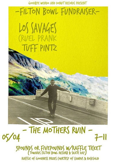 Donut Records presents - Filton Bowl Fundraiser at The Mothers Ruin in Bristol