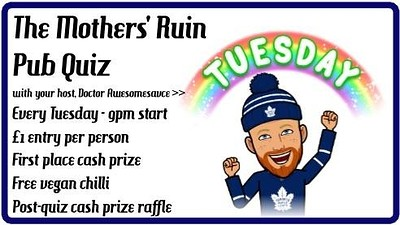 The Mothers' Ruin Pub Quiz + Free Chili at The Mothers Ruin in Bristol
