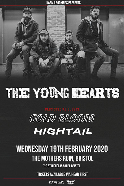 The Young Hearts plus Gold Bloom at The Mothers Ruin in Bristol