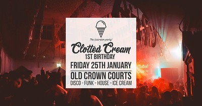 Clotted Cream: 1st Birthday at The Old Crown Courts in Bristol