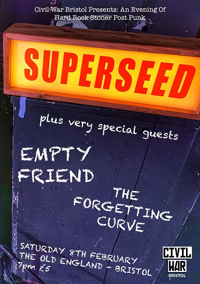 Civil War Presents: Superseed & Guests at The Old England Pub in Bristol