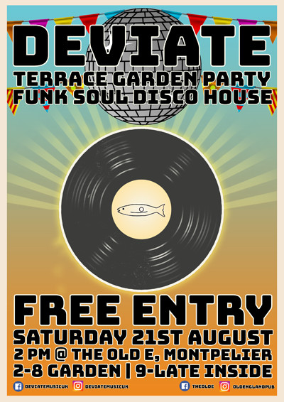 Deviate Terrace Garden Party at The Old England Pub in Bristol