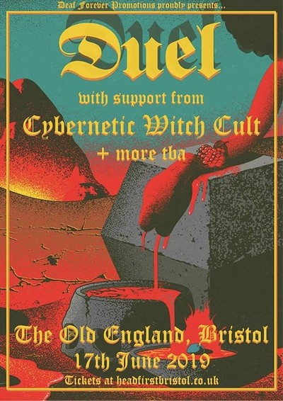 DF: DUEL (US) // Cybernetic Witch Cult + More TBA at The Old England Pub in Bristol