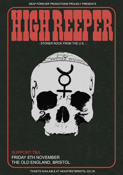 DF: High Reeper [US] // Eyes Fly // Kong Lives at The Old England Pub in Bristol