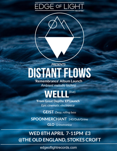 Double Launch Gig! Distant Flows album & Welll EP at The Old England Pub in Bristol