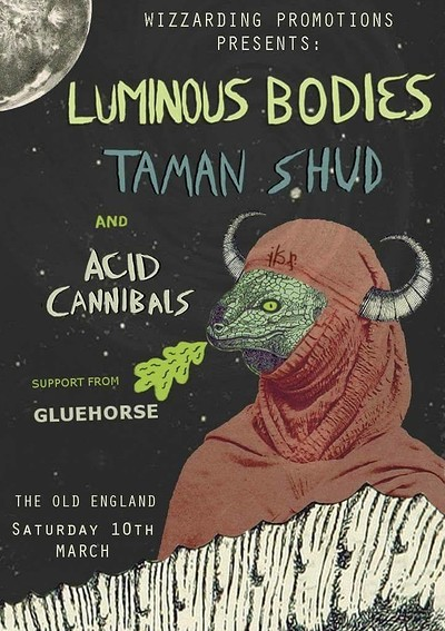 Luminous Bodies / Taman Shud / Acid Cannibals at The Old England Pub in Bristol