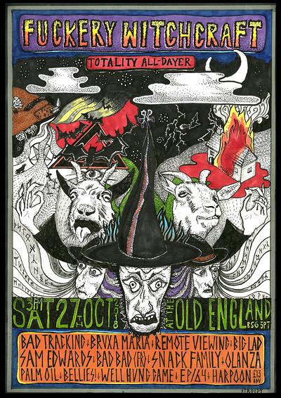 Totality Fuckery Witchcraft Halloween All Dayer  at The Old England Pub in Bristol