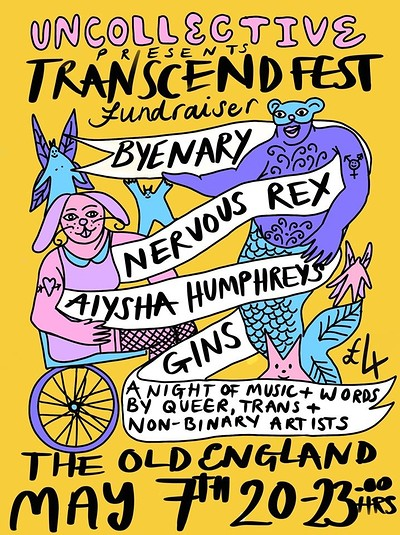 Uncollective Presents: Transcend Fest Fundraiser at The Old England Pub in Bristol