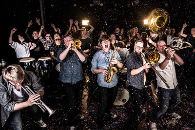 Broken Brass Ensemble + Waggles  at The Old Market Assembly in Bristol