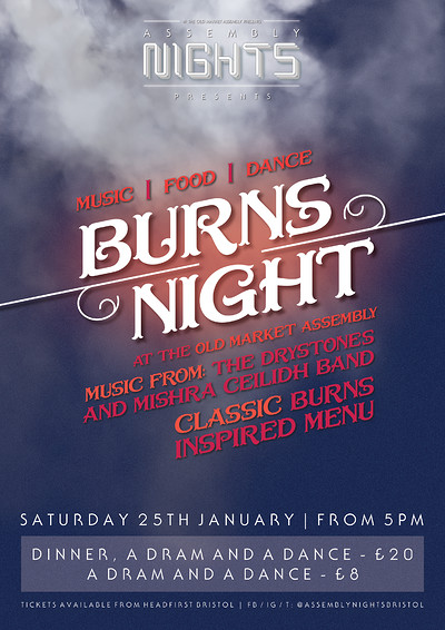 Burns Night Ceilidh at The Old Market Assembly in Bristol