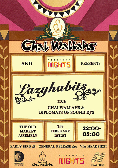 Chai Wallahs & Assembly Nights Present:Lazy Habits at The Old Market Assembly in Bristol