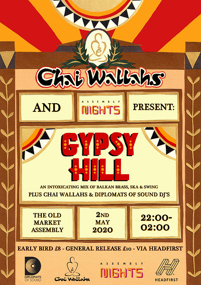 POSTPONED! Chai Wallahs Presents: Gypsy Hill at The Old Market Assembly in Bristol